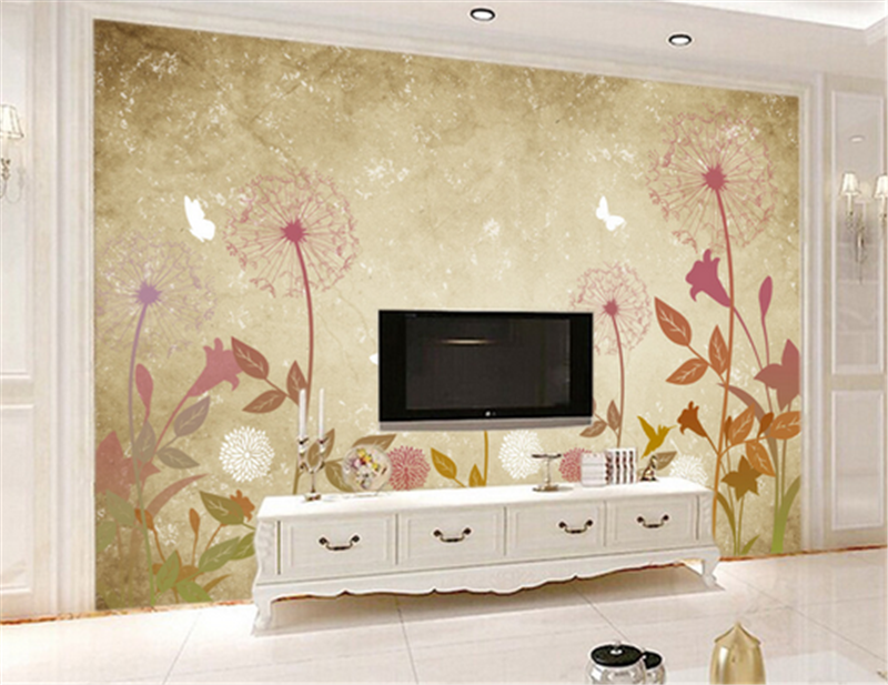 3D rot Dandelion Pattern 93 Wallpaper Mural Paper Wall Print Wallpaper Murals UK