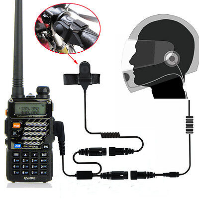 Full Face Helmet Motorcycle Headset Earpiece For Baofeng UV5RE Plus Pofung Radio