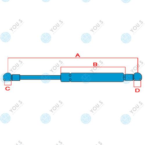 2 x YOU.S Gasfeder für DEUTZ AgroXtra 3.57 4.07-4.57 6.07 6.17 Front//Heckscheibe