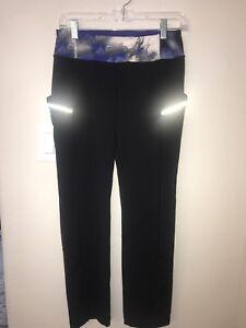 0bdaf556abfbd Lululemon Luxtreme Black/Milky Way Bright at Night Run Pants SZ 8 | eBay
