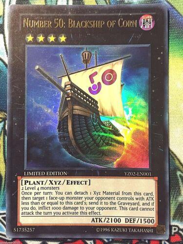 Number 50 Promo Karte XYZ Nummer NM Blackship of Corn YZ02-EN001 UR Yu-Gi-Oh