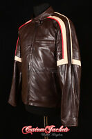 Men's WAR OF THE WORLDS Brown Nappa Real Leather Hollywood Hero Movie Jacket
