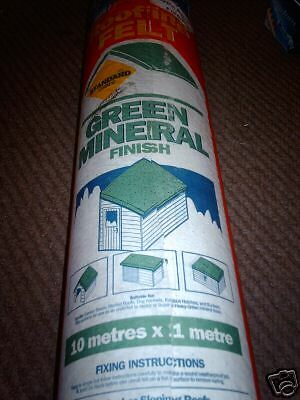 GREEN MINERAL 25kg NOT TORCH ON 1m x 10m ICOPAL SHED Roofing felt NAIL ON