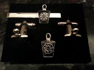 Black-Mark-Mason-Keystone-with-Lewis-Cufflink-Tieslide-lapel-pin-set-Masonic