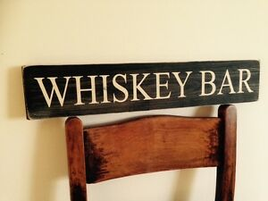 Image Is Loading Whiskey Bar Sign Pub Bbq Party Gift Vintage