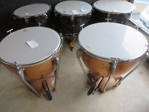 vintage slingerland timpani set of 2 drums project free shipping