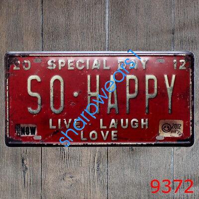 Metal Tin Sign so happy Decor Bar Pub Home Vintage Retro Poster Cafe ART