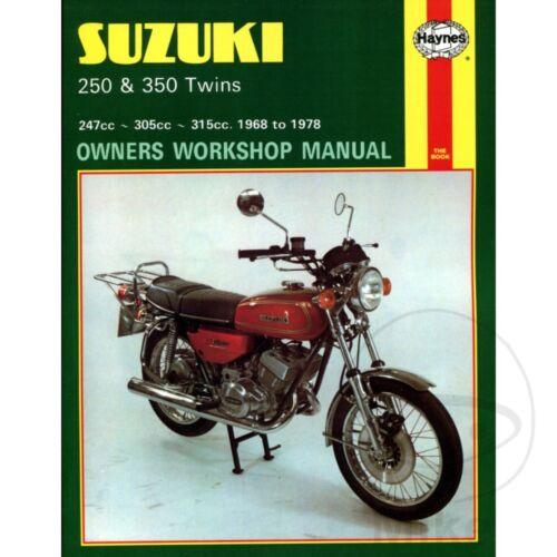 SUZUKI 250 /& 350 TWINS 1968-1978 Haynes Repair Manual 0120