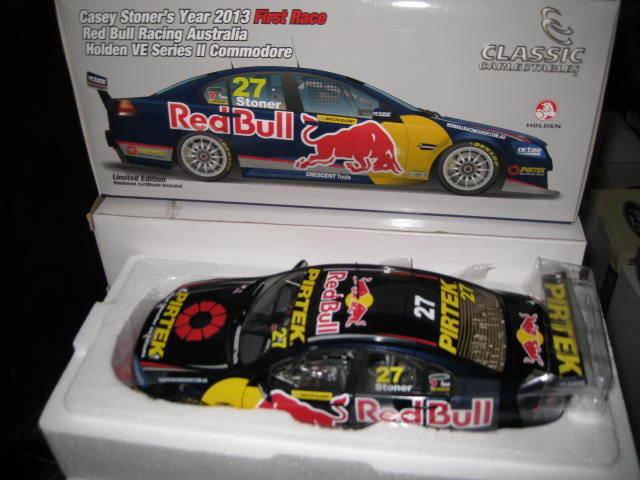 CLASSIC 1.18 1st V8 SUPERCARS RACE CASEY STONER rosso BULL HOLDEN COMMODORE