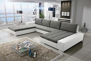 sofa couchgarnitur verona 4 u couch sofagarnitur u wohnlandschaft schlaffunktion ebay. Black Bedroom Furniture Sets. Home Design Ideas