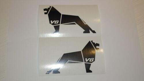 1 Paar MAN Löwen mit V8 Folien Chrom Aufkleber für Fahrerhaus in 1:14,5