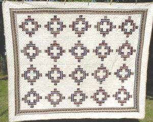 EARLY-1870s-HAND-PIECED-ALBUM-PATCH-ANTIQUE-QUILT