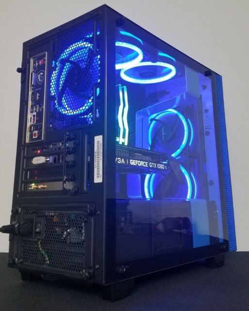 NZXT Gaming PC Intel i7 8700k 4.7Ghz Turbo 16GB RTX 2080 Custom Computer RGB VR