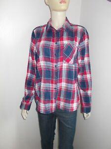 Womens-New-Look-check-tartan-shirt-top-size-12-UK-40-Eur-VGC
