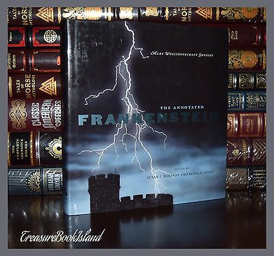 Annotated Frankenstein Mary Shelley Brand New Illustrated Deluxe Large Hardcover