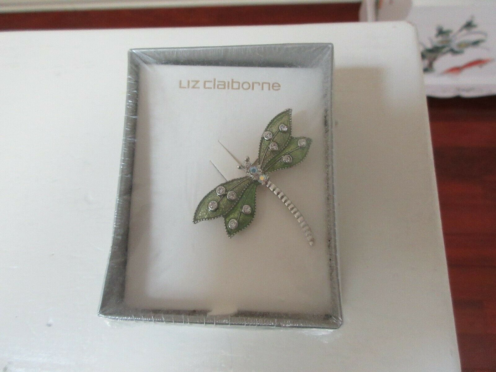 Liz Claiborne , Butterfly Pin , New In Original Box , V