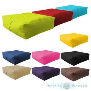 Blue Moroccan Outdoor Floor Cushion Bean Bag Seat Water Resistant Garden