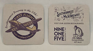 CRAZY LADY WATERFRONT BREWERY Key West FL Beer Collectible Coaster Brewery X2