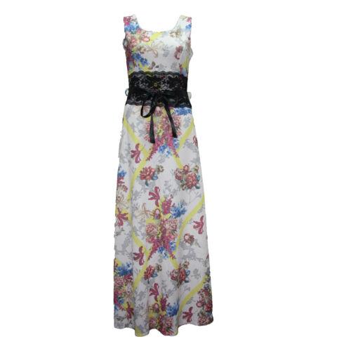 Señoras Nueva Noche Falda De Fiesta Para Mujer Verano Largo Maxi Vestido Talla 8-14