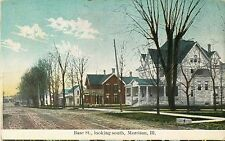 A Quiet Day On Base Street, Looking South, Morrison IL Illinois 1911