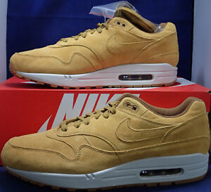 huge selection of a1993 044ef Image is loading Nike-Air-Max-1-Premium-Wheat-Light-Bone-