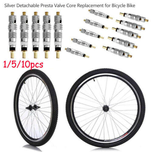 Presta valve Core  Bike Tire Tyre Silver Detachable  French Air Pump