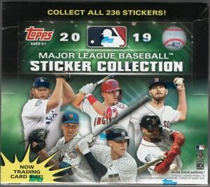 2019-Topps-MLB-Sticker-Collection-Baseball-Cards-Box-with-Album-204-Stickers