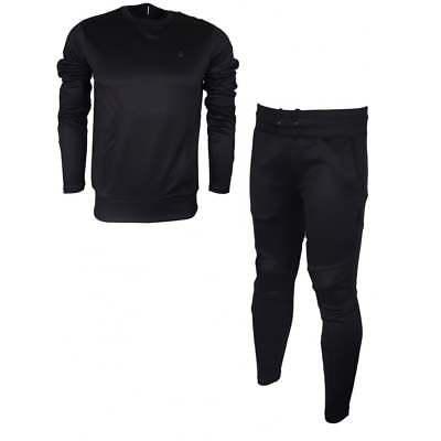 Activewear G-star Motac Round Neck Slim Fit Polyester Black Tracksuit