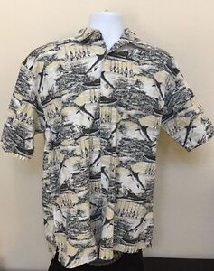 6f472489e17 Details about Wolverine Boots & Gear Mens fishing Shirt Deep-sea Short  Sleeve Camp style B4