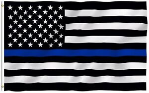 ANLEY-Thin-Blue-Line-Police-USA-Flag-Respect-and-Honor-Banner-3x5-Foot-US-Flags