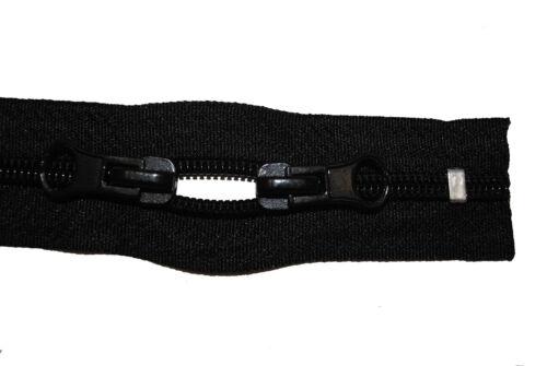 negro 230 cm de largo 5mm espiral 2 corredera tiendas de campaña Cremallera para mochilas