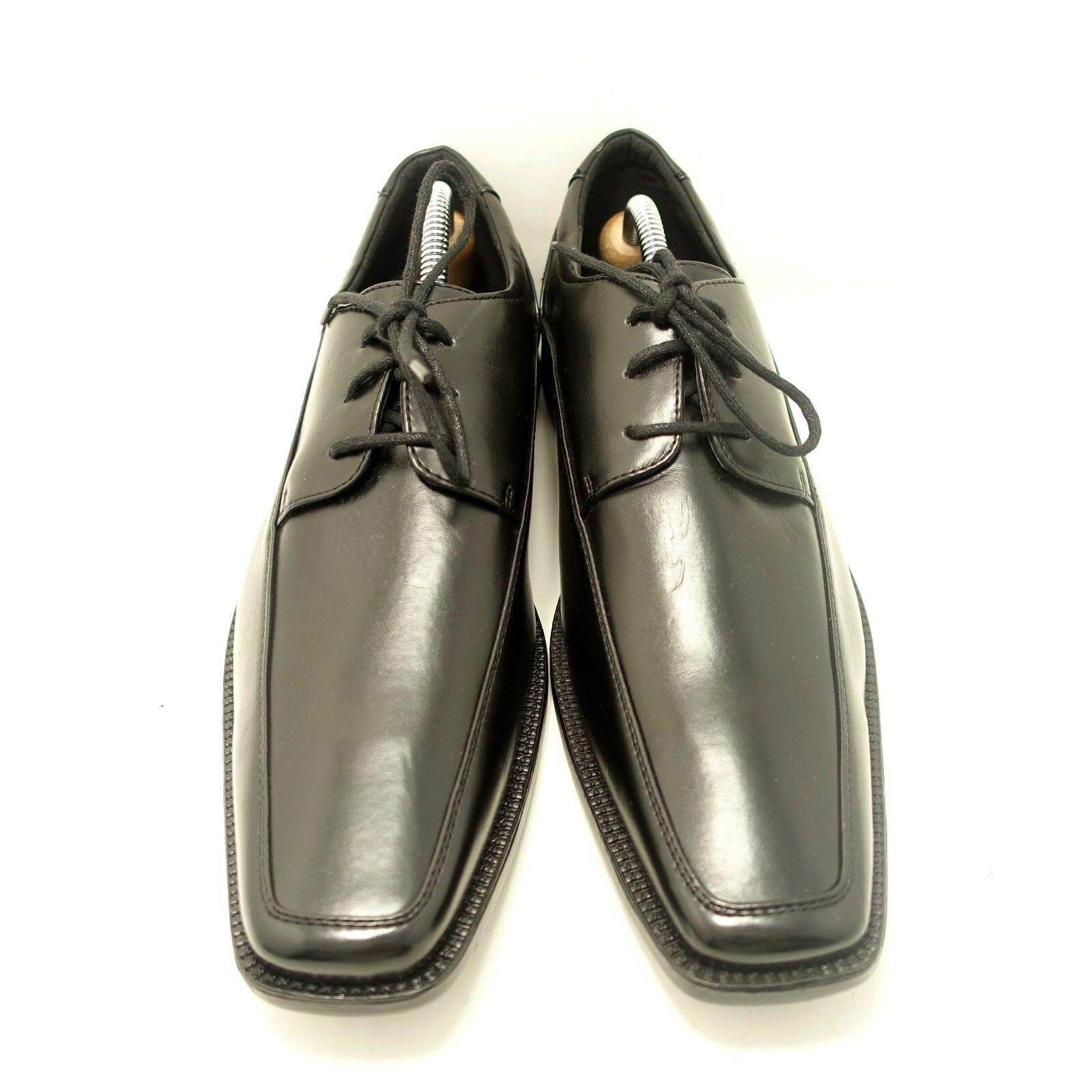 Joseph Abboud Men's Simpson Black Leather Lace Up Oxford Dress Shoes Sz 10 D,M
