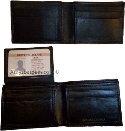 Lot of 2 man/'s skinny leather Bifold wallet 6 bank card holder 2 billfolds 1 ID