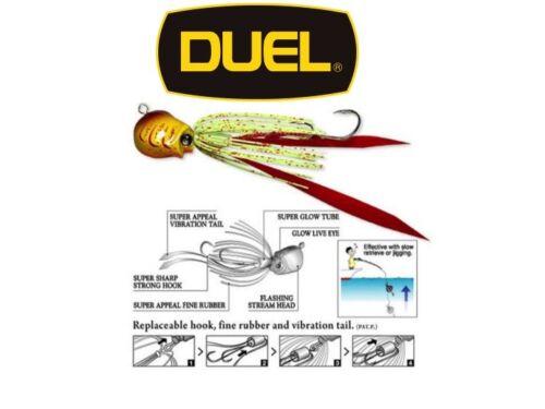 Duel  Salty Rubber Super Appeal Salt Water Rubber Jig 80g COLOR F850-CHS