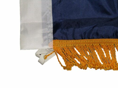 3x5 Texas Zavala Lone Star Poly Nylon Sleeve w// Gold Fringe Flag 3/'x5/' Banner