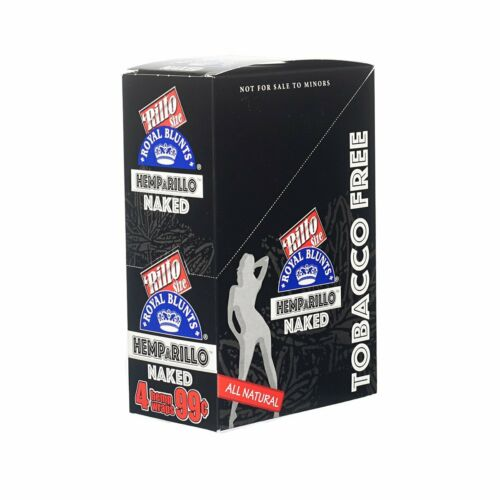 Hemparillo Naked Hemp Wraps Rolling Papers 15 Packs Full Box 60 Wraps