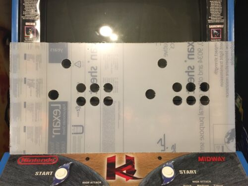 Killer Instinct 2 Arcade Lexan Polycarbonate Control Panel Protector KI2 NOS CPO
