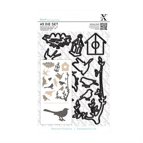 Docrafts Xcut 14 piece A5 sheet Mixed Birds die set X cut Sizzix eBosser etc