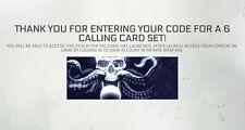Call of Duty Infinito Guerra paquete de tarjeta de llamada bacalao DLC PS4 Xbox vapor en todo el mundo