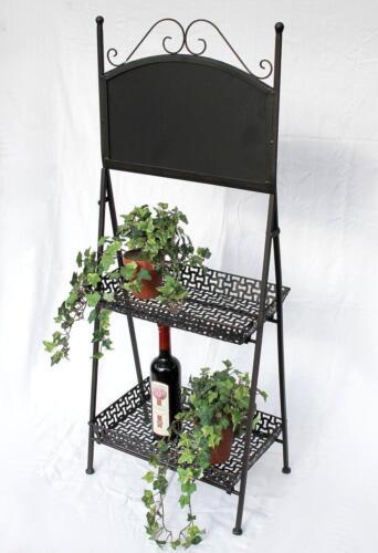 Blumentreppe 130837 aus Metall mit Kreidetafel 108 cm Blumenständer