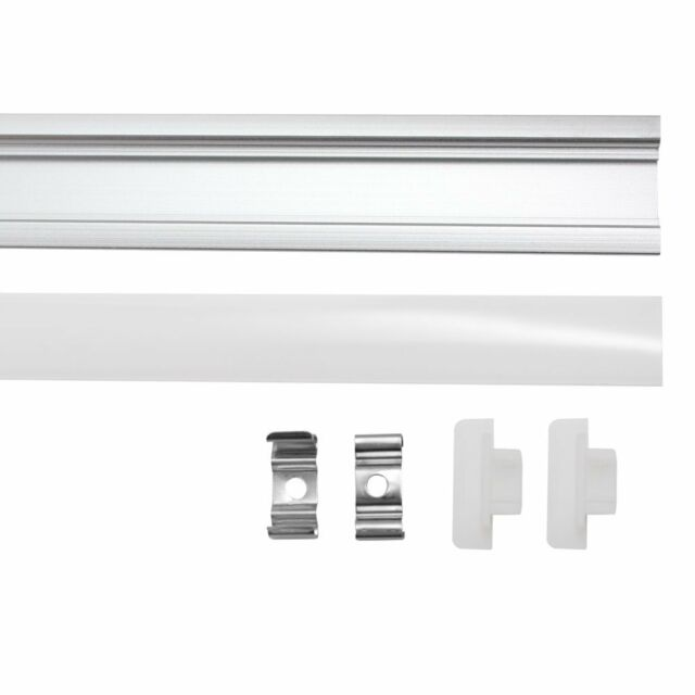 20*0.5M U-Style Aluminum Channel Holder&Milk Cover End Up for Rigid LED Strip