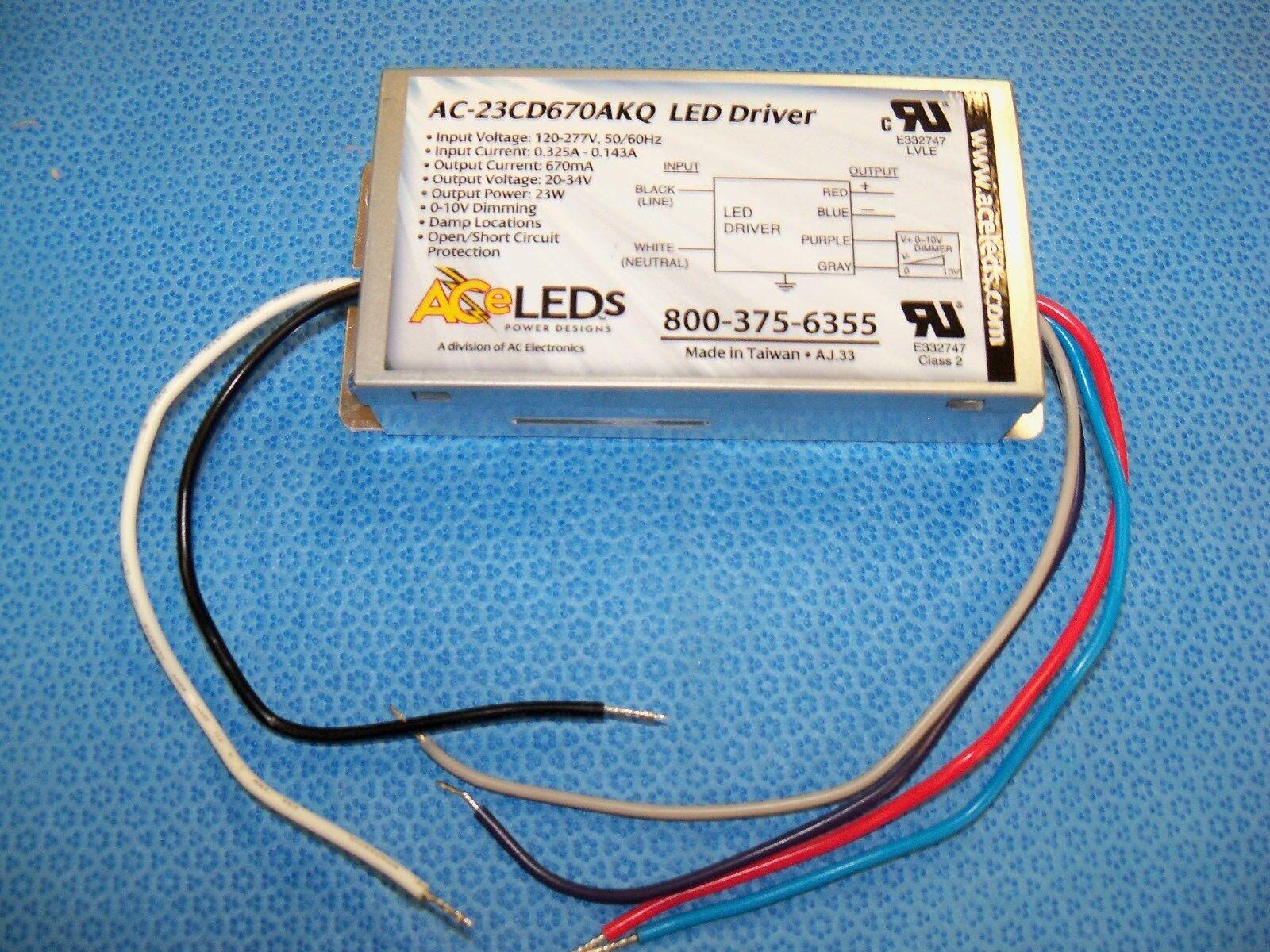 Ace LEDs Ac-23cd670akq LED Driver AC Electronics Ballast | eBay