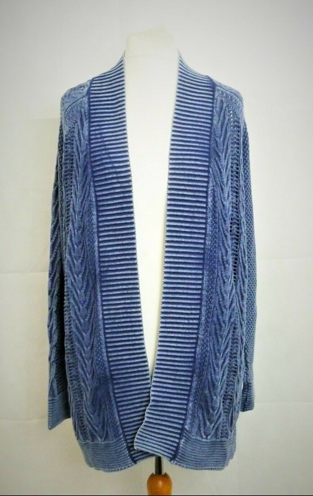 Next bluee Wash Knitted Cardigan Size rrp  DH089 GG 10