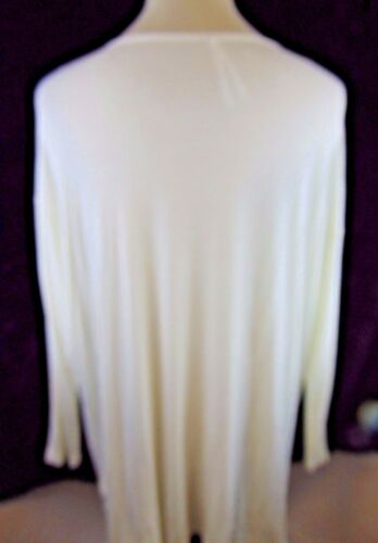Nicole amp; New Solid Tunic Tags Ls Ivory 2x Leo With Woman Top S5Rqqdp