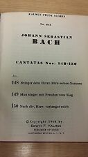 Bach: Cantatas 148-150: Music Score