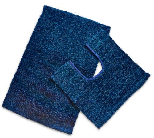 Glitter Cotton Blend 2 Piece Bathroom Mat /& Pedestal Mat Set Bath Rug