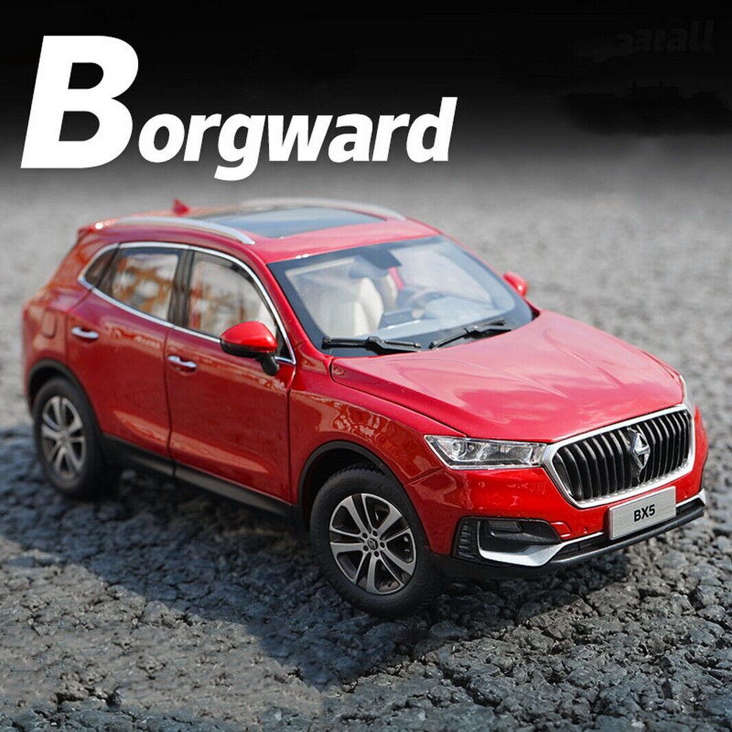 118 scale BORGWARD bx5 SUV rosso DIECAST auto modello giocattolo Collection veleno