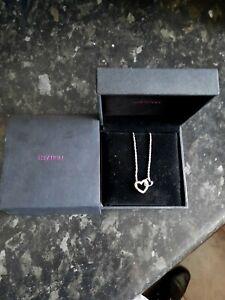 H Samuel Diamond Heart  Sterling silver Necklace rrp £129