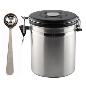 Image Is Loading 16oz Coffee Canister Air Stainless Steel Vacuum Seal