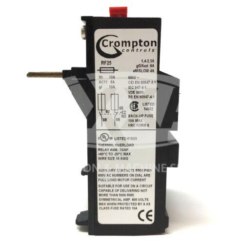Surcharge Relais RF25-2.3 Crompton contrôle 1.4-2.3A RF25//2.3 RF25.2.3